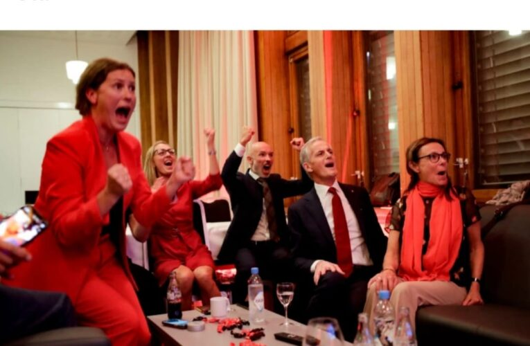 Norway's left-wing opposition wins election in a landslide