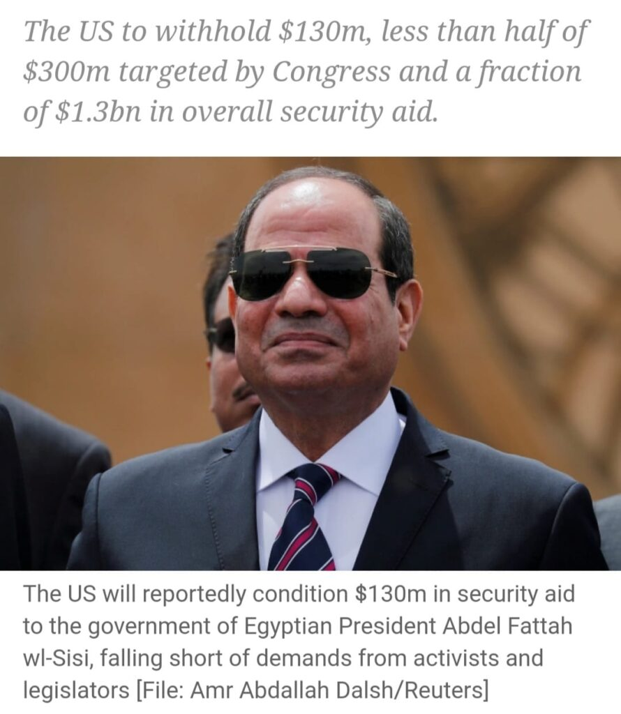 US to place conditions on a fraction of aid to Egypt: US media